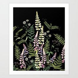 Forest flowers. Art Print