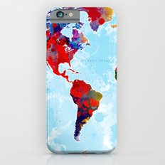 World Map - 3 iPhone 6s Slim Case