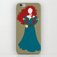 merida iPhone & iPod Skins featuring Merida by Dewdroplet