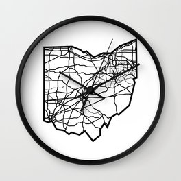 Ohio Love Where You're From Wall Clock