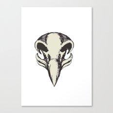Eagle Skull Retro Canvas Print