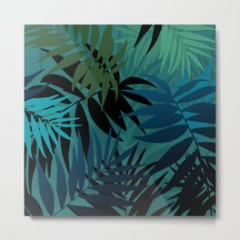 T. Palm leaves Metal Print