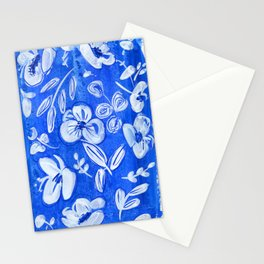 blue and white flowers N.o 2 Stationery Cards