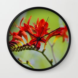 Lucifer Flowers Wall Clock