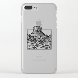 Monument Valley Hand Drawing Clear iPhone Case