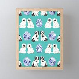 Staffordshire Dogs + Ginger Jars No. 2 Framed Mini Art Print