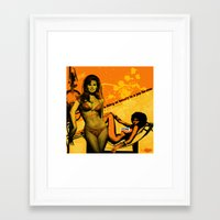 70s Framed Art Prints featuring sexy 70s by EPIK