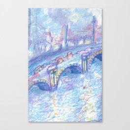 Recomposed: Waterloo Bridge, Sunlight Effect Canvas Print