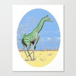 Girafe printemps Canvas Print