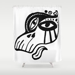 Lady #MonsterGaga Style Shower Curtain