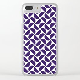 HALF-CIRCLES, NAVY Clear iPhone Case