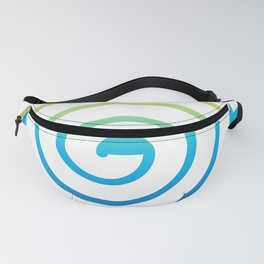 White Spiral Fanny Pack