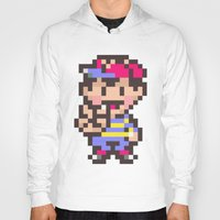 earthbound Hoodies featuring Ness (Peace) - Earthbound / Mother 2 by Studio Momo╰༼ ಠ益ಠ ༽