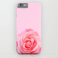 Swirly Petals Pink Rose iPhone 6s Slim Case