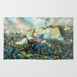 The Capture of Fort Fisher - Civil War Rug