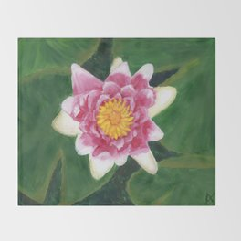 Water Lily Throw Blanket