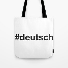 DEUTSCH Tote Bag