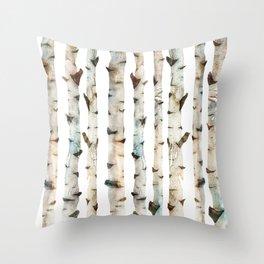 Birch Tree 2 Throw Pillow