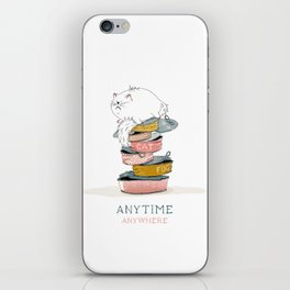 cat love food iPhone Skin