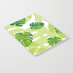 green monstera jungle Notebook