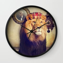 The royal lion Wall Clock