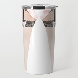 Lingeramas - Sexy Pink and Black Lingerie Legging Pajamas Travel Mug