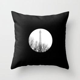 eiffel Throw Pillow