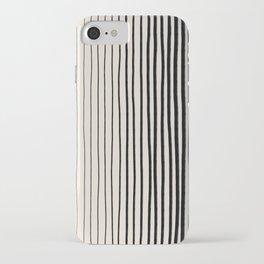Black Vertical Lines iPhone Case
