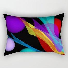 waves on black -1- Rectangular Pillow