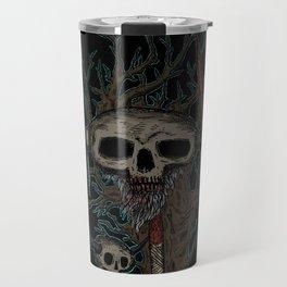 skull on a pike Travel Mug