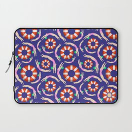 Summer Swimmers in Pink on Navy | Floats | Life Savers | pulps of wood Laptop Sleeve