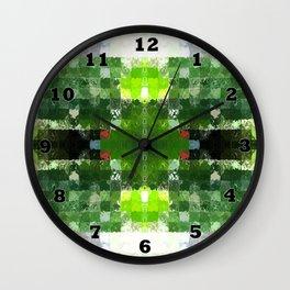 Bright Green tiles Wall Clock