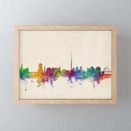 Dublin Ireland Skyline Cityscape Framed Mini Art Print