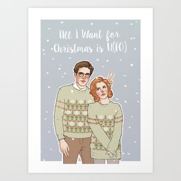 all i want for xmas is u(fo) Art Print