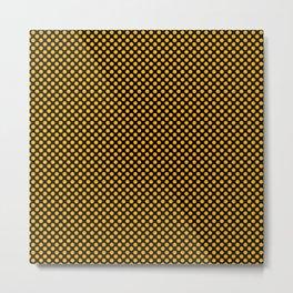 Black and Gold Fusion Polka Dots Metal Print
