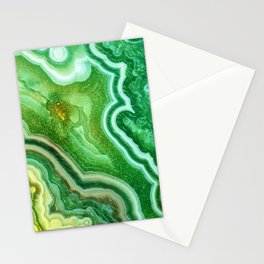 Green Onyx Marble Stationery Cards