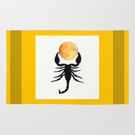 A Scorpion With The Moon In The Frame #decor #homedecor #buyart #pivivikstrm Rug