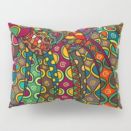 African Style No13, Tribal dance Pillow Sham