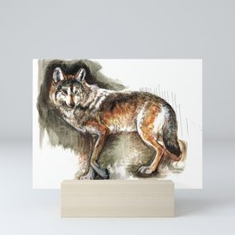 Totem Mexican Wolf ( Watercolor ) Mini Art Print