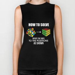 How To Solve Puzzle Cube - Funny Cubing Biker Tank