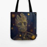 groot Tote Bags featuring Groot by Ka-ren