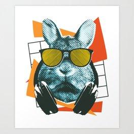 Bunny with sunglasses Art Print