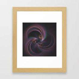 Moons Fractal in Warm Tones Framed Art Print