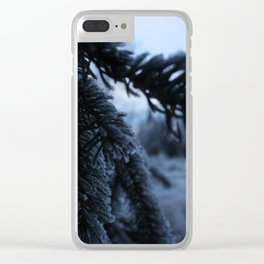 Frosty Spruce Clear iPhone Case