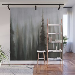 Pacific Northwest Forest oil painting by Jess Purser Wall Mural