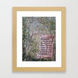 Savannah Scroll Framed Art Print