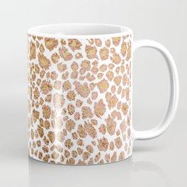 Leopard Spots, Faux Metallic Coffee Mug