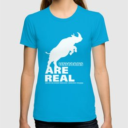 Unicorns Are Real 2, white text T-shirt