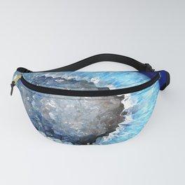 Blue Crystal Geode Fanny Pack