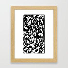Variation on a 16th c. design Framed Art Print